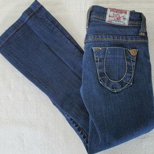 TRUE RELIGION SLIGHTLY FLARED JEANS, size 26